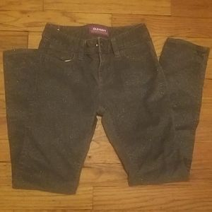 Old Navy size 8 grey jeans with sparkles